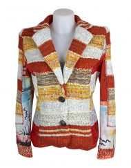 Lulu H Orange French Style Jacket1