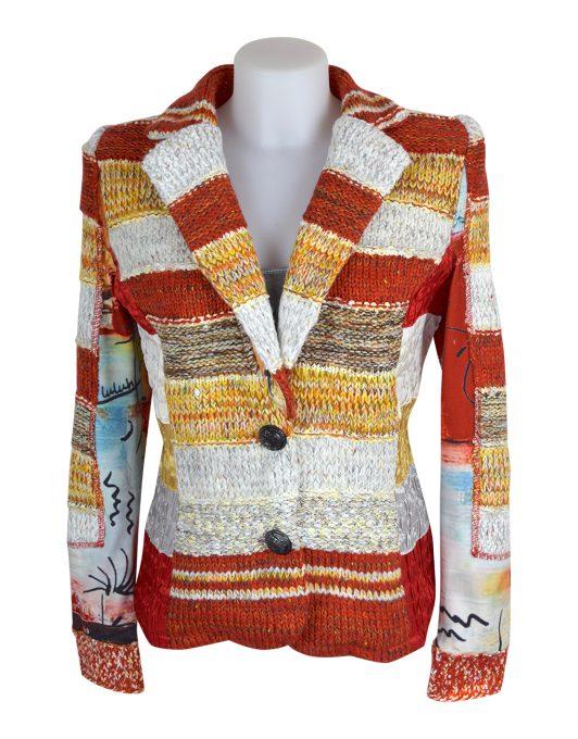 Lulu H Orange French Style Jacket1