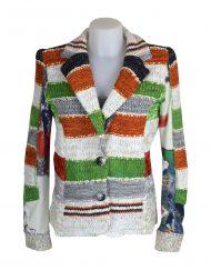 Lulu H Orange & Green French Style Jacket