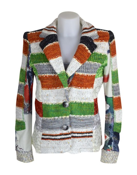 Lulu H Orange & Green French Style Jacket