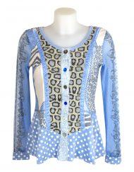 Lulu H Light Blue Button Top