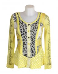 Lulu H Lemon Button Top