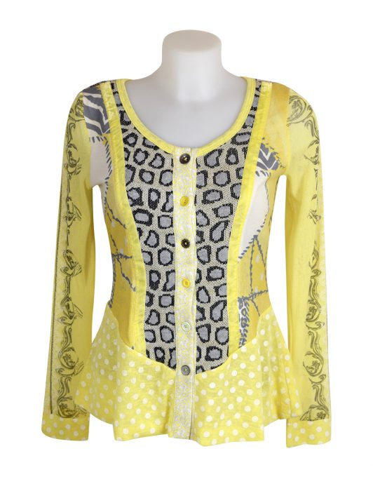 Lulu H Lemon Button Top