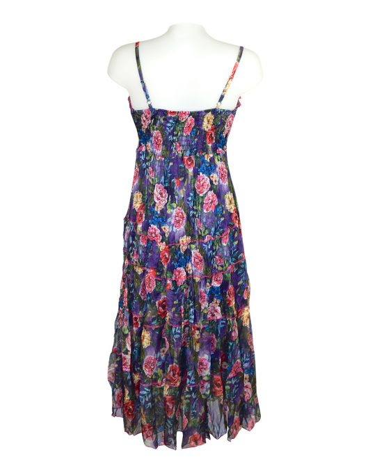 Sensations Pour Elle Blue Mix Floral Maxi Dress One Size2