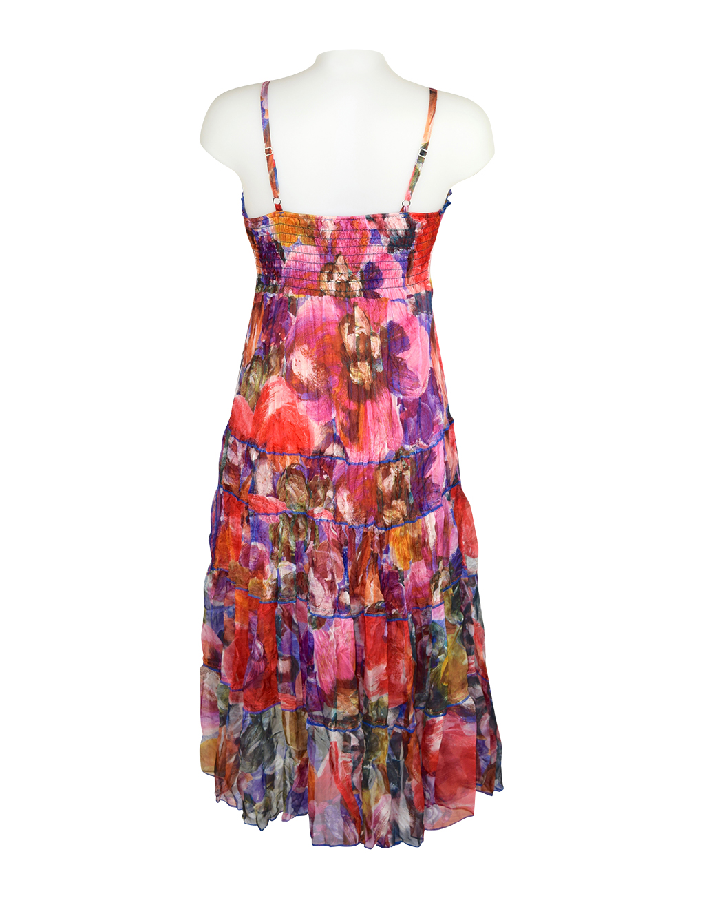 Sensations Pour Elle Red Mix Abstract Maxi Dress One size2