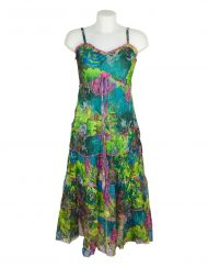 Sensations Pour Elle Green Mix Maxi Dress One Size1
