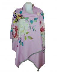 Luxury Stylish Cashmere Mix Pink Floral Shawl
