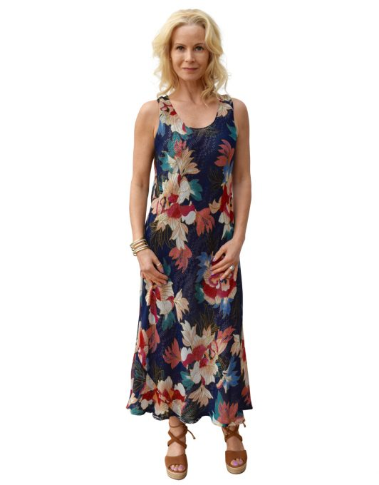 Paramour Reversible 2 in 1 Navy Floral Dress5