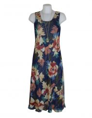 Paramour Reversible 2 In 1 Dress Navy Floral 1