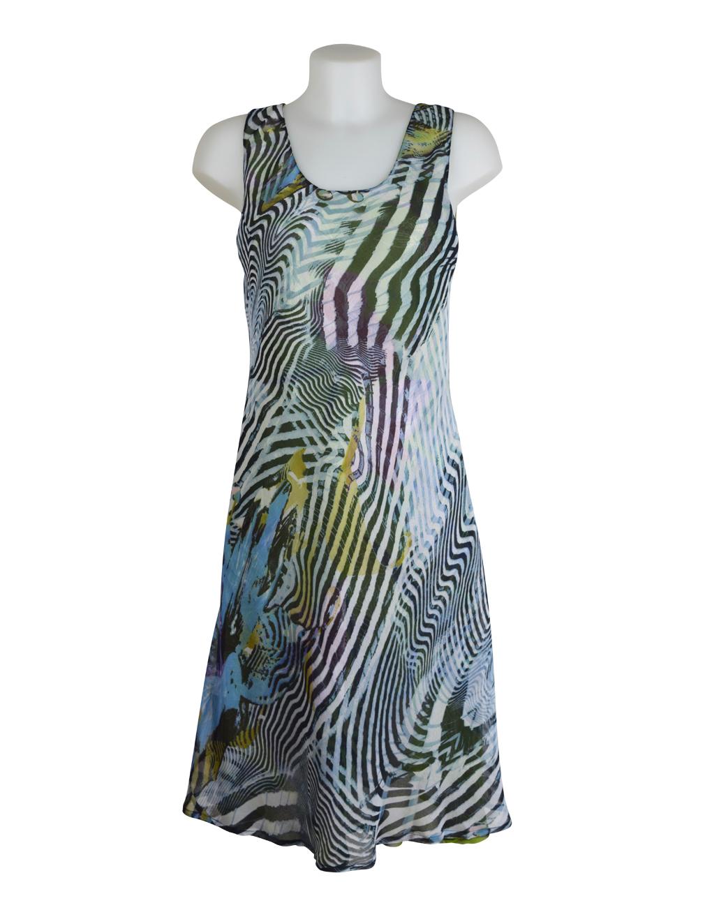 Paramour Reversible Dress Black Stripe 3