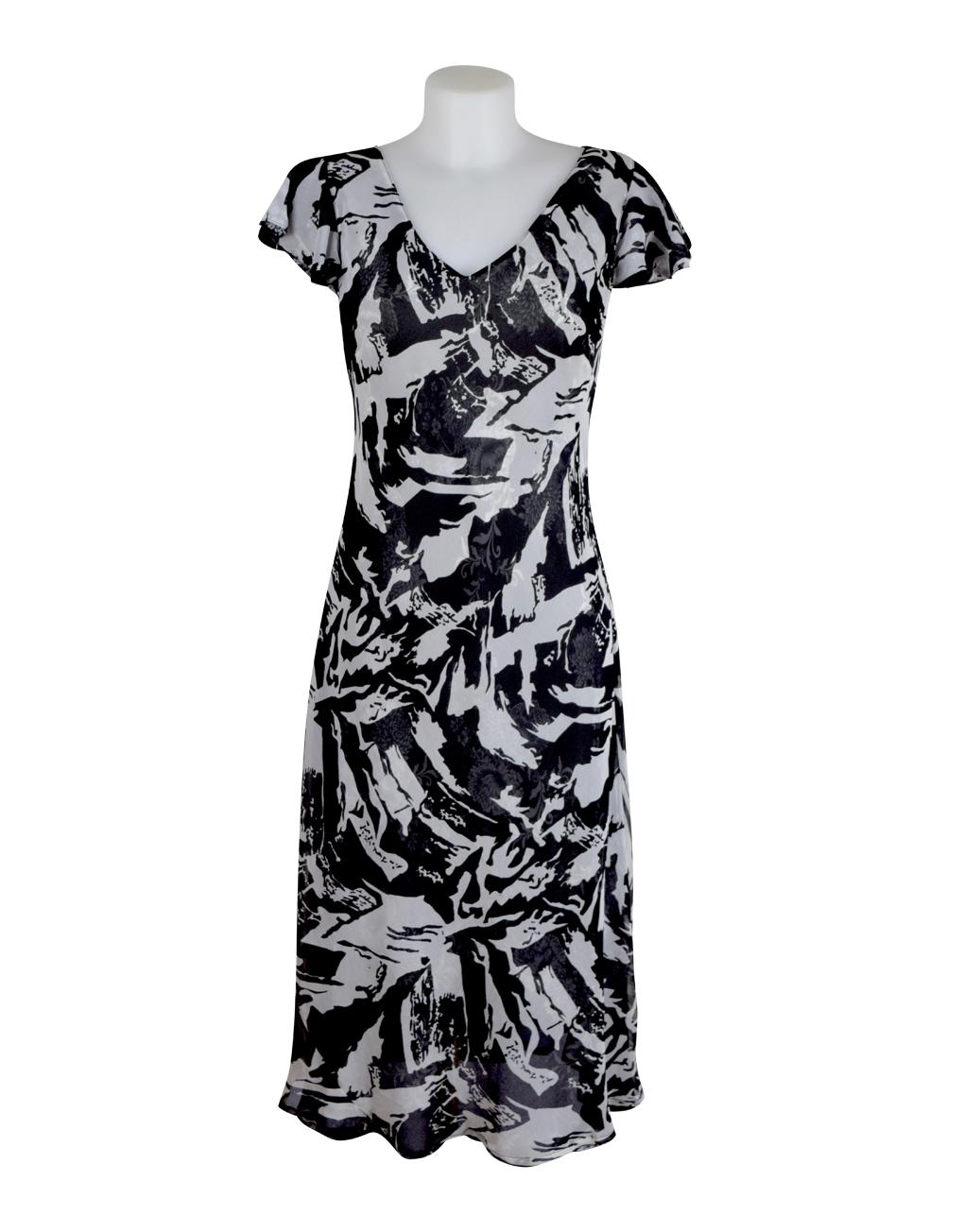 Paramour Reversible Dress Cap Sleeve Black & White