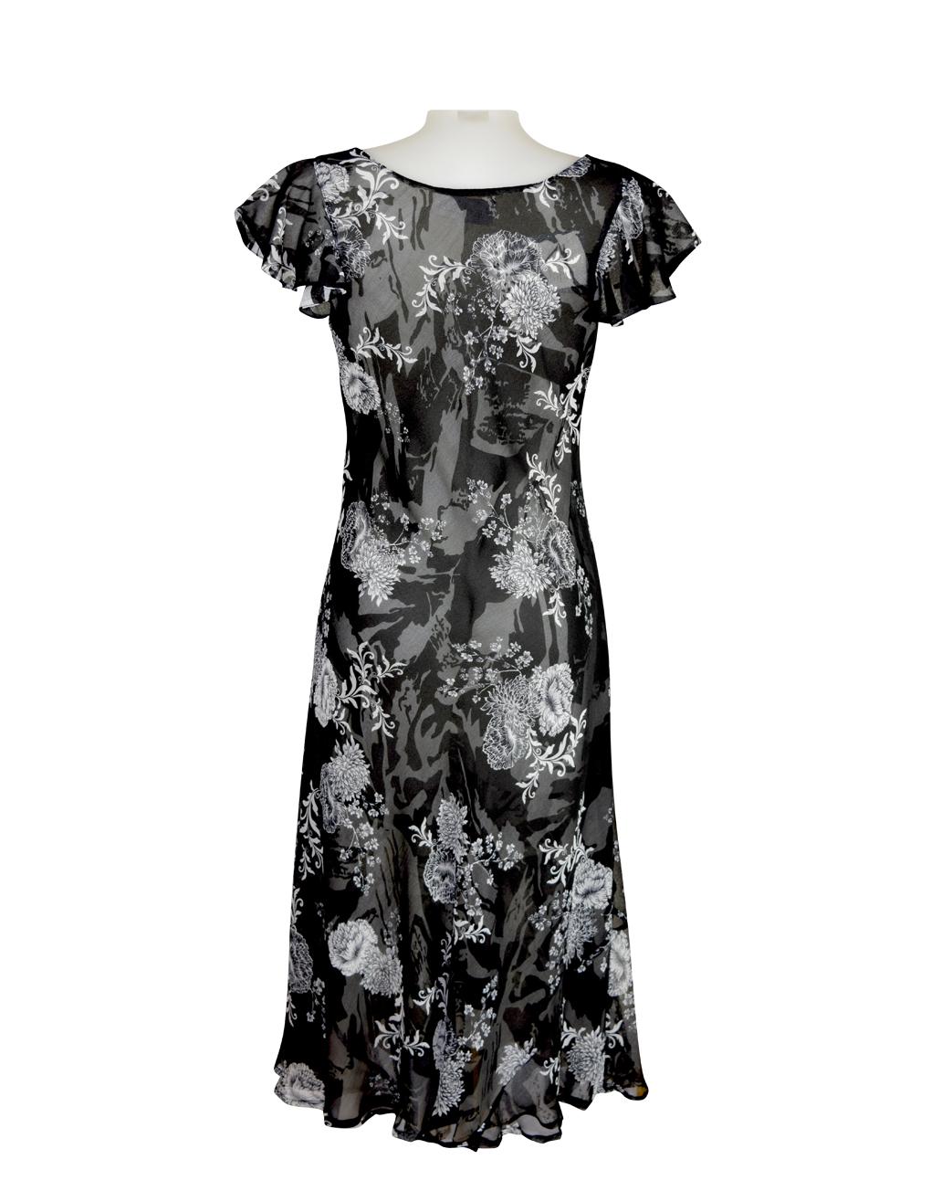 Paramour Reversible Dress Cap Sleeve Black & White9