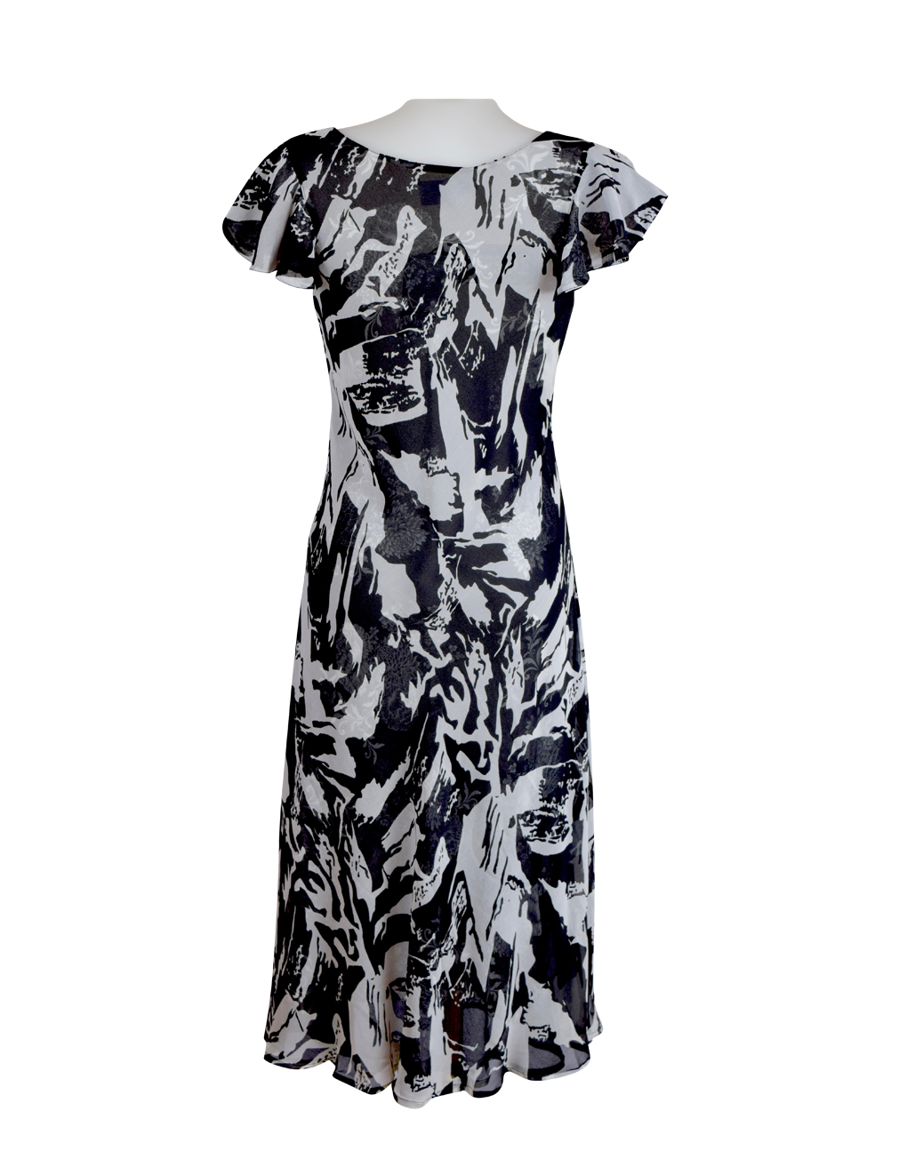 Paramour Reversible Dress Cap Sleeve Black & White4