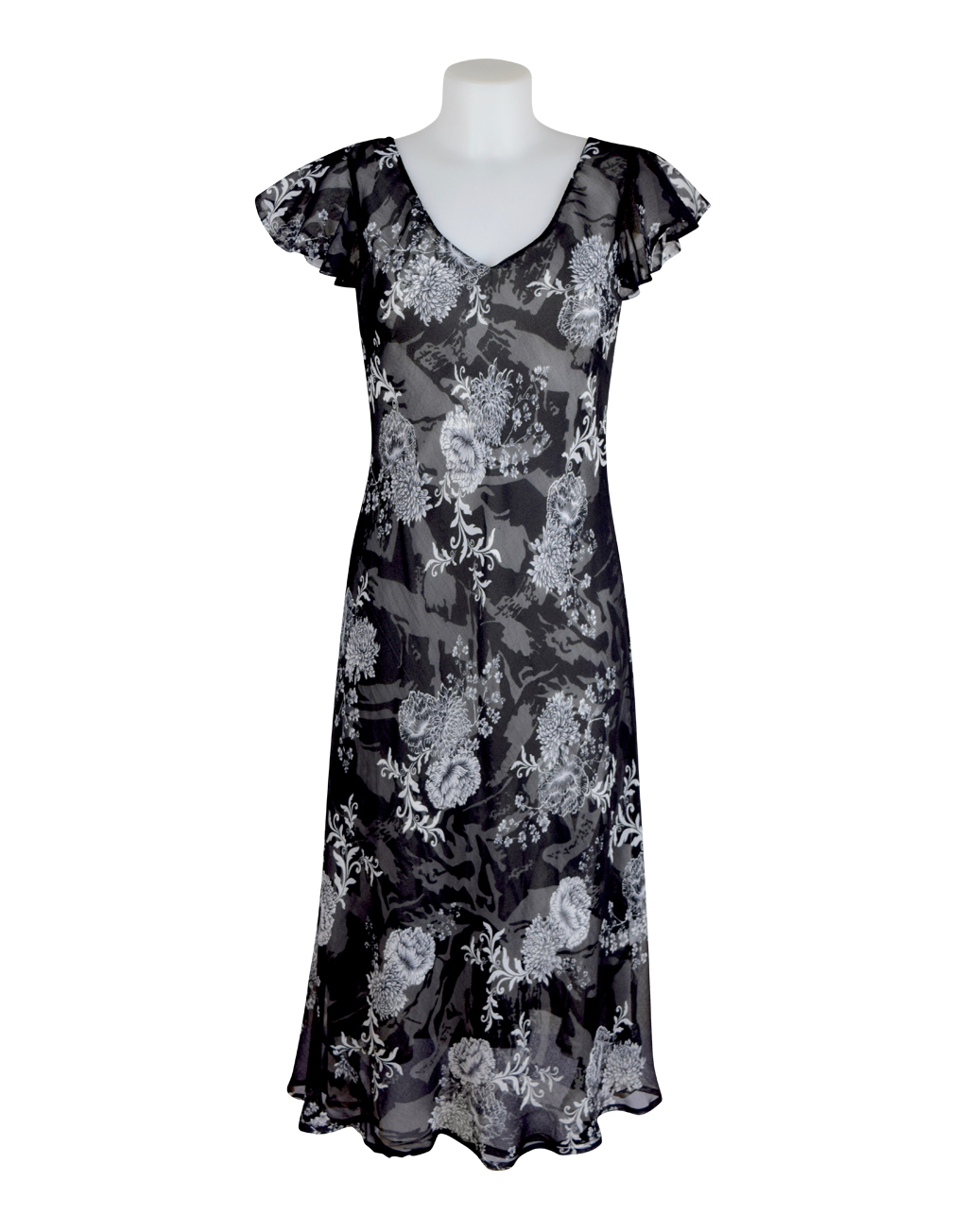 Paramour Reversible Dress Cap Sleeve Black & White8