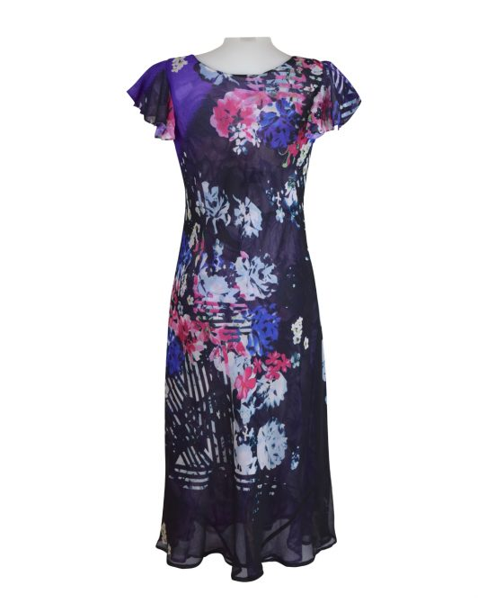 Paramour Reversible Dress Cap Sleeve Navy2