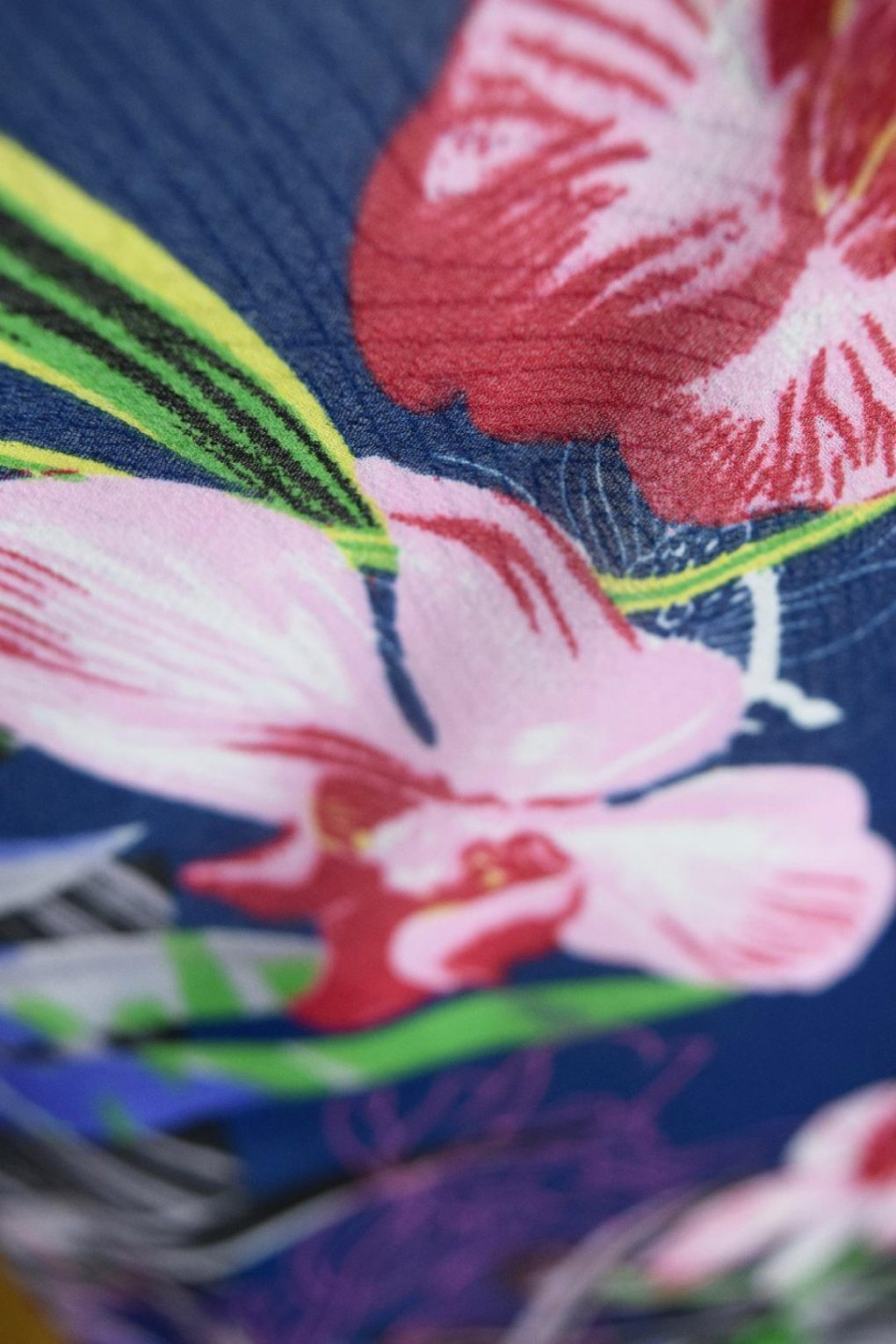 Paramour Reversible Dress Cap Sleeve Blue With Pink Flower5