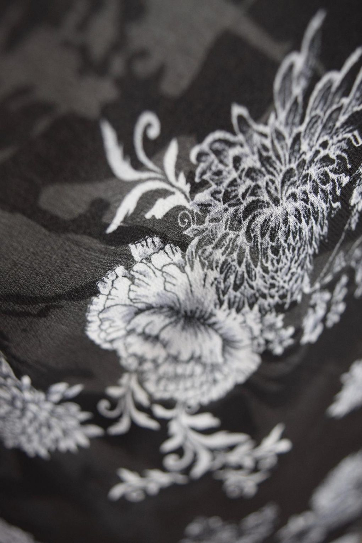 Paramour Reversible Dress Cap Sleeve Black & White Fabric