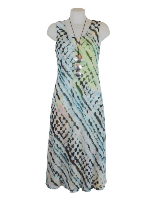 Paramour Reversible 2 In 1 Sleeveless Dress Orange Floral / Snake Print B
