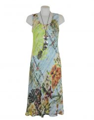 Paramour Reversible 2 In 1 Sleeveless Dress Orange Floral / Snake Print A