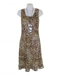 Paramour Reversible 2 In 1 Sleeveless Dress Floral / Leopard A