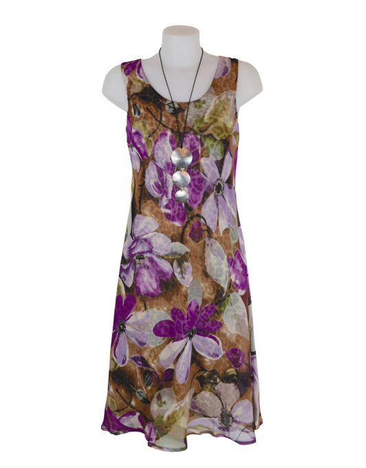 Paramour Reversible 2 In 1 Sleeveless Dress Floral / Leopard B