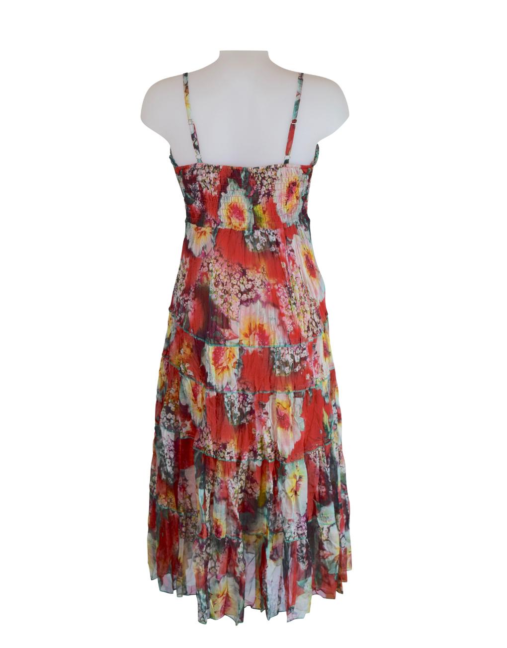 Sensations Pour Elle's Red Maxi Dress