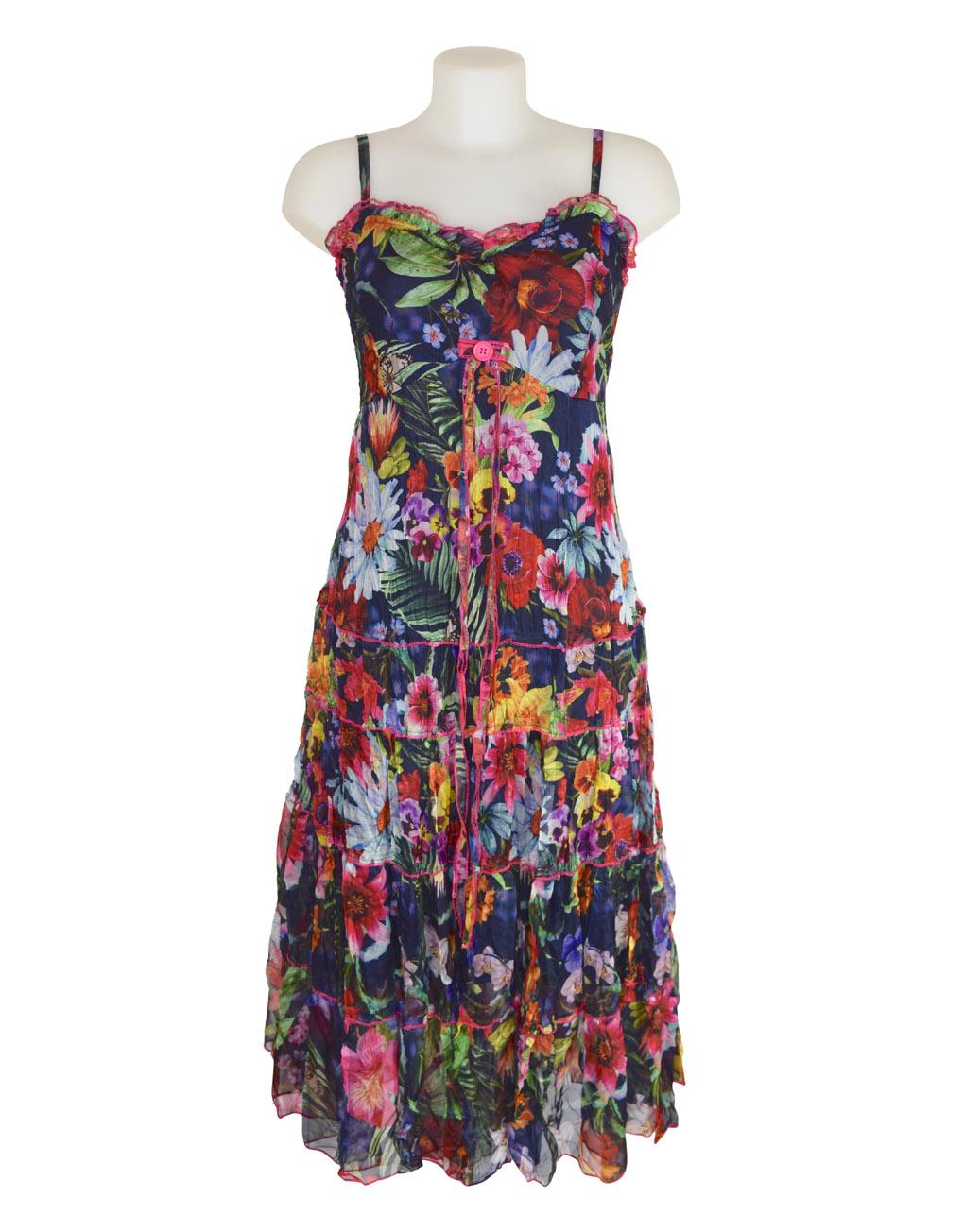 Sensations Pour Elle's Navy Floral Maxi Dress