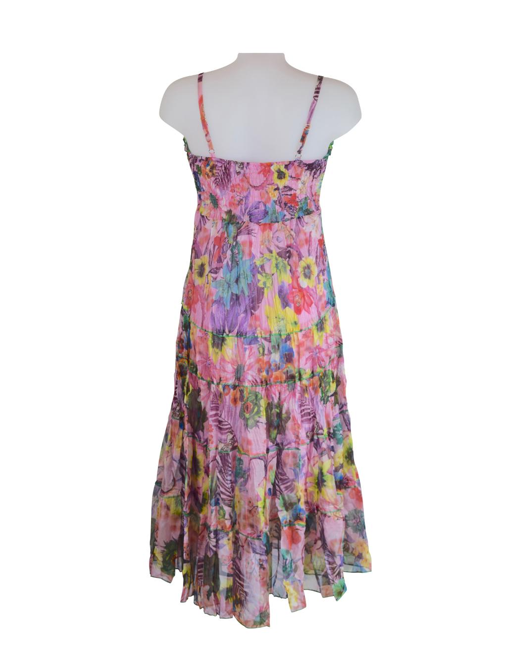 Sensations Pour Elle's pink maxi dress