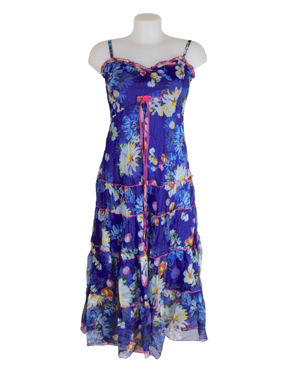 Sensations Pour Elle's Blue Maxi Dress