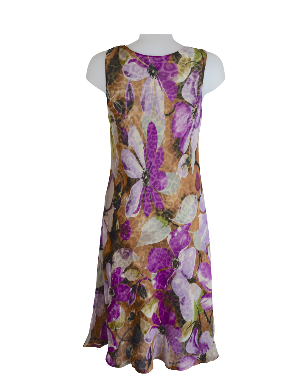 Paramour Reversible 2 In 1 Sleeveless Dress Floral / Leopard D