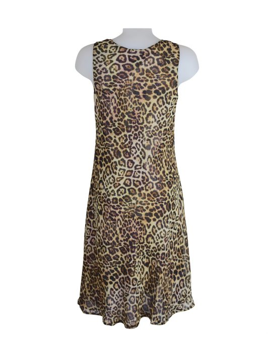 Paramour Reversible 2 In 1 Sleeveless Dress Floral / Leopard C