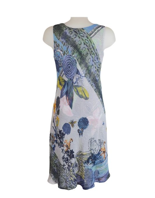 Paramour Reversible 2 In 1 Sleeveless Dress Blue / White D