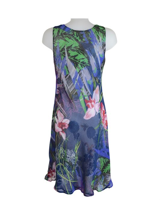 Paramour Reversible 2 In 1 Sleeveless Dress Blue / White C