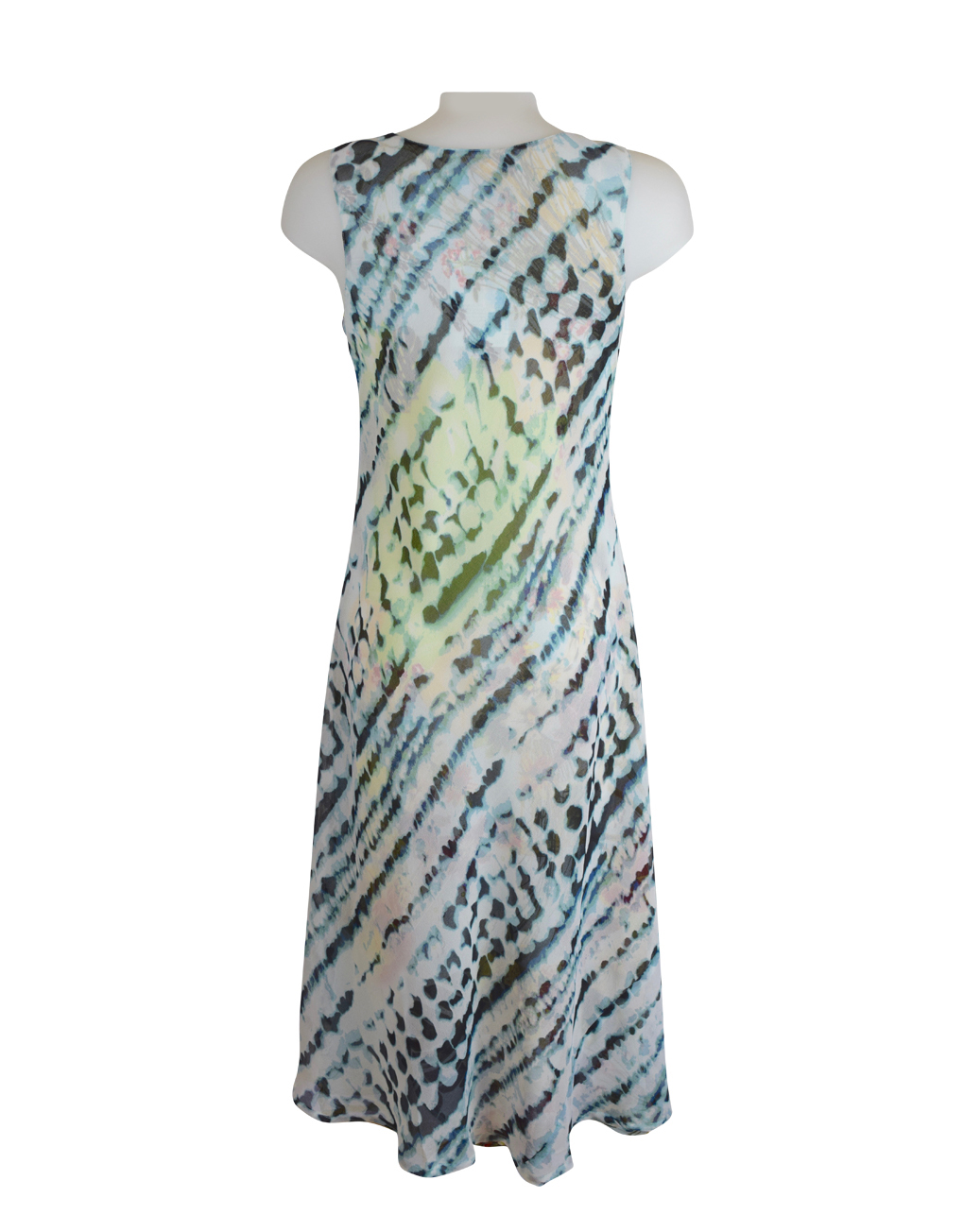 Paramour Reversible 2 In 1 Sleeveless Dress Orange Floral / Snake Print D