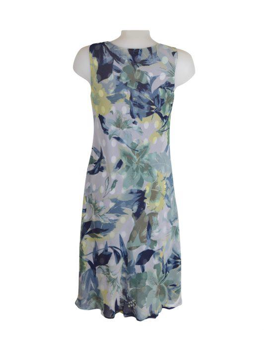 DSC_0779 Paramour Reversible 2 In 1 Sleeveless Dress Navy & White Polka Dot / Floral D
