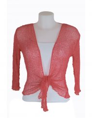 Coral net cardigan
