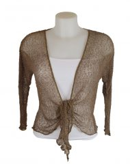 Mocha net cardigan shrug