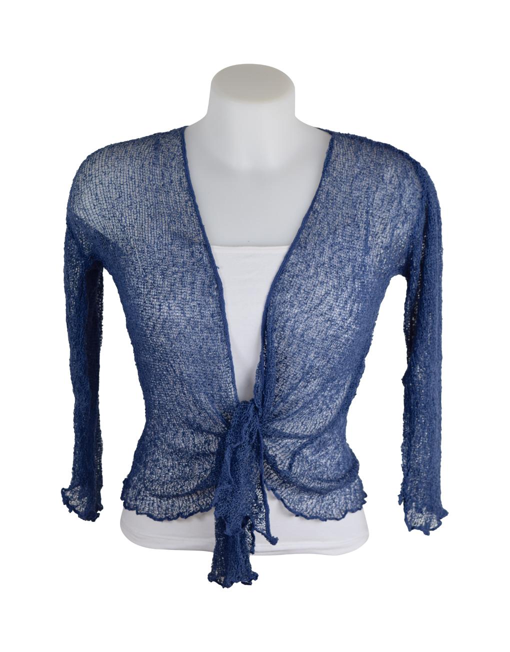 Shrug Denim Knitted