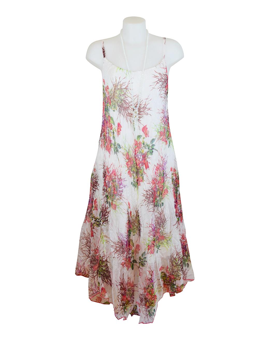 Sensations Pour Elle Ivory Floral Maxi Dress One Size