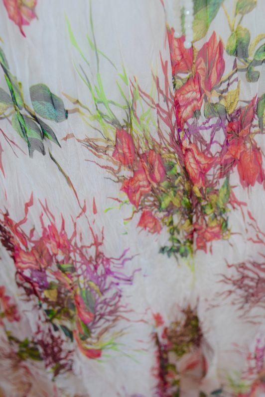 Sensations Pour Elle Ivory Floral Maxi Dress One Size Swatch