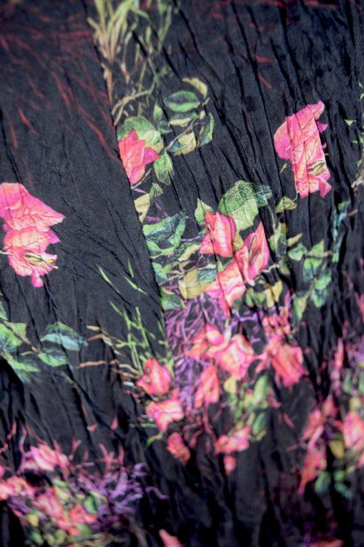 Sensations Pour Elle Black Floral Maxi Dress One Size Swatch