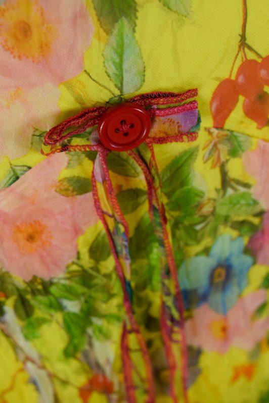Sensations Pour Elle Yellow Floral Maxi Dress One Size Swatch