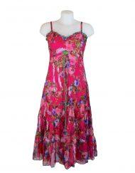 Sensations Pour Elle Cerise Pink Floral Maxi Dress One Size