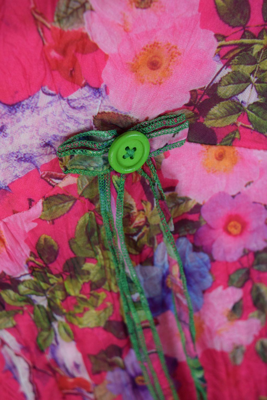 Sensations Pour Elle Cerise Pink Floral Maxi Dress One Size Swatch