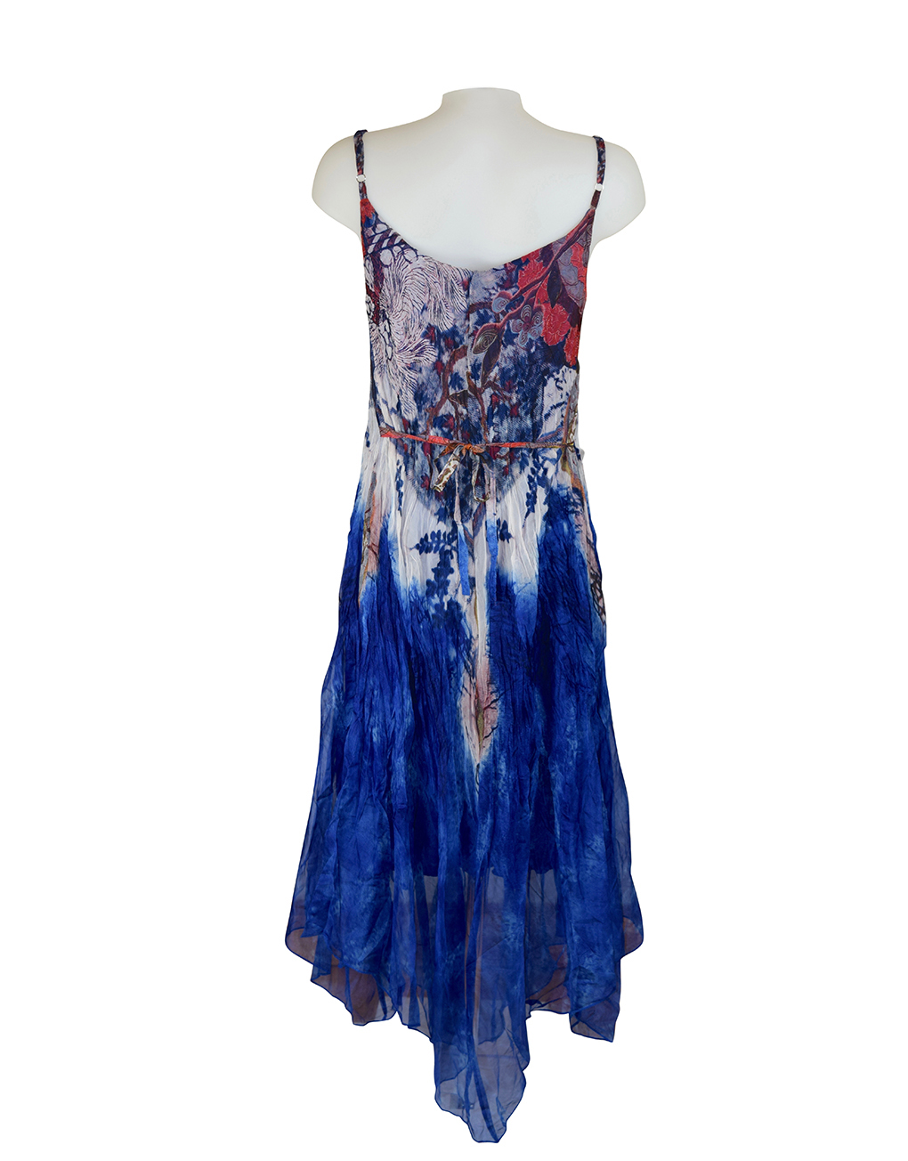Sensations Pour Elle Royal Blue Abstract Print Maxi Dress One Size / T Reverse