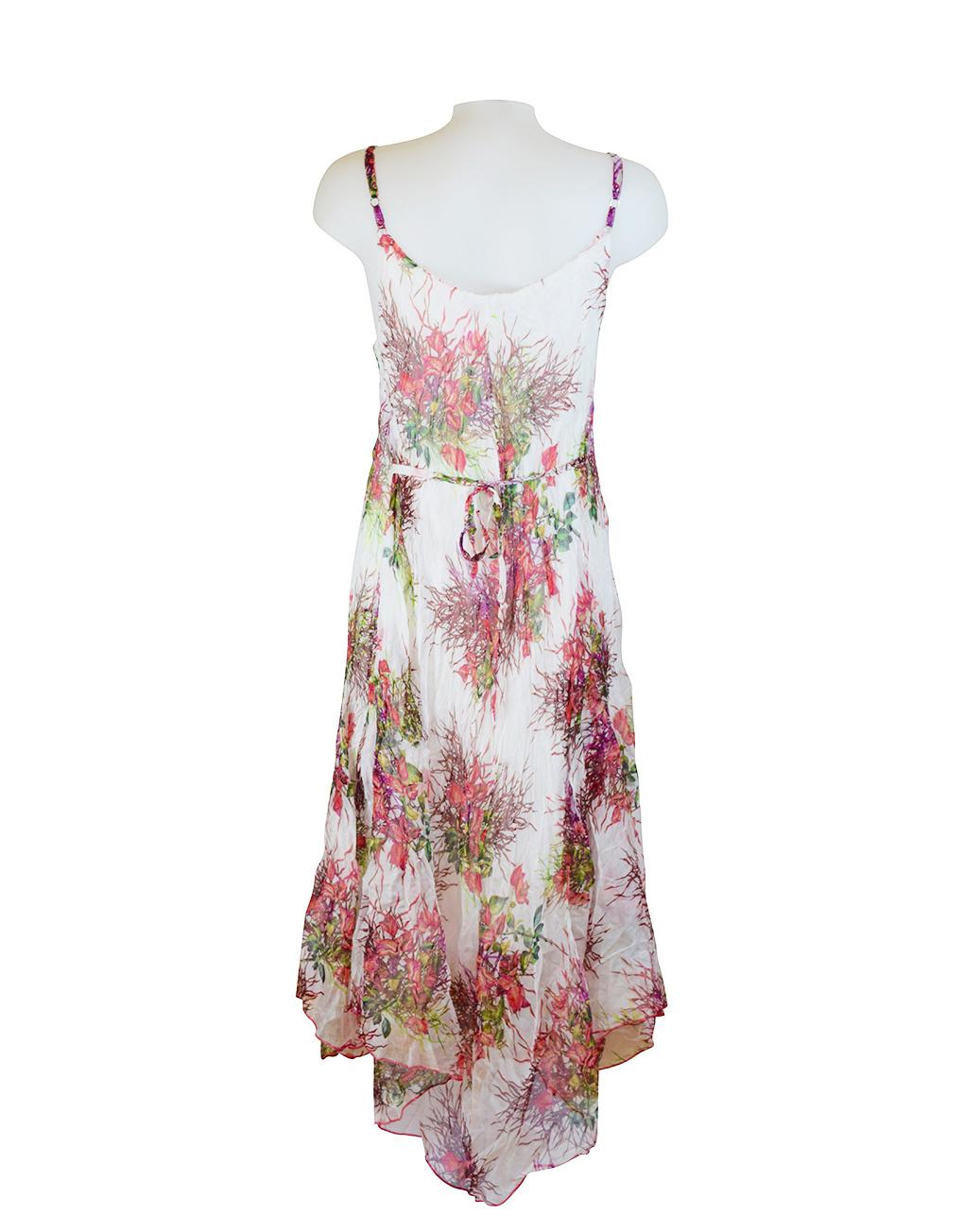 Sensations Pour Elle Ivory Floral Maxi Dress One Size Reverse