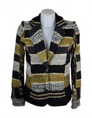 LULU-H Mustard & Black French Style Jacket Front H2215C