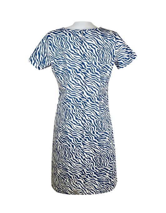 Alice Collins Kylie Dress Indigo Zebra Back 024S070