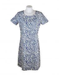 Alice Collins Kylie Dress Indigo Zebra Front 024S070