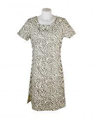 Alice Collins Kylie Dress Mushroom Zebra Front 024S070